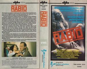 RABID UN-RATED VHS