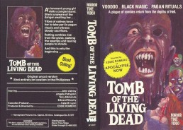 tomb of the living dead vhs front & back